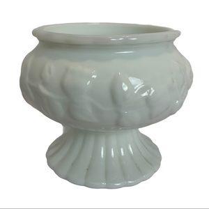 Vintage Milk Glass Candy Dish Pedestal Vase